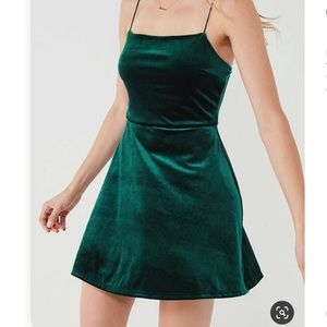 Urban Outfitters UO velvet strait neck dress